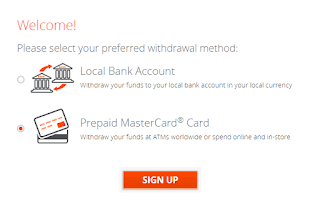 Prepaid MasterCard® Card Withdraw your funds at ATMs worldwide or spend online and in-store