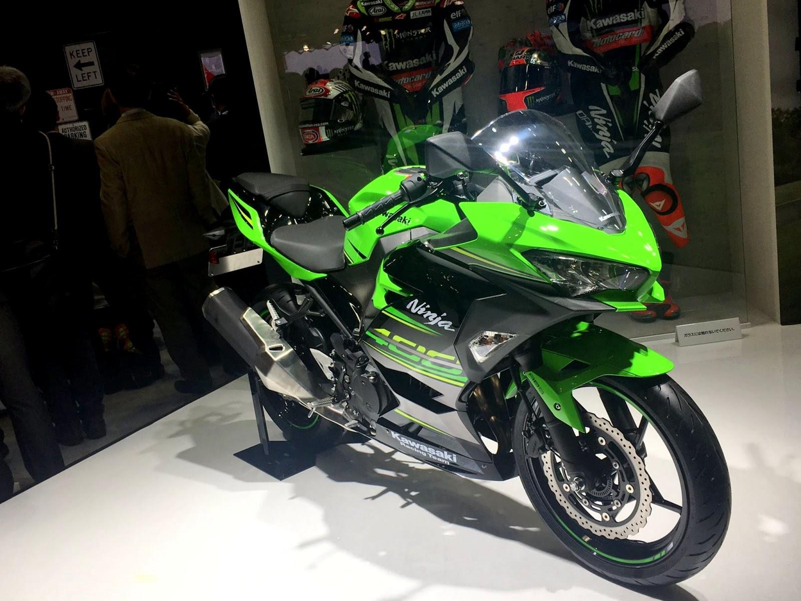 Wujud New Kawasaki Ninja 250 Facelift akhirnya muncul di Tokyo Motor Show 2017 sob !