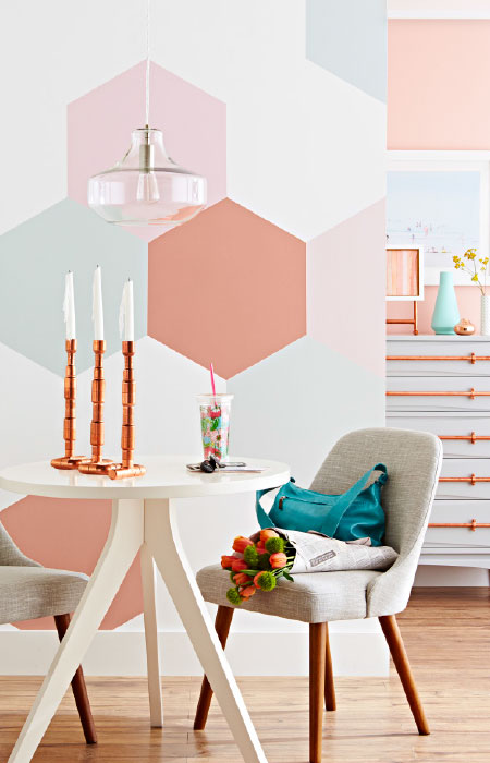 Beautiful Painted Hexagonal Wall Decorations
