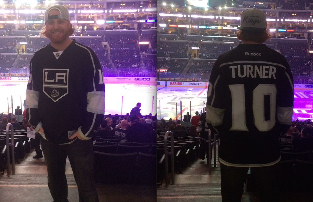 a2528789ab2 Last night was Dodger Pride Night at the Staples Center for the LA Kings  game against the Florida Panthers. Dodger standout utility infielder Justin  Turner ...