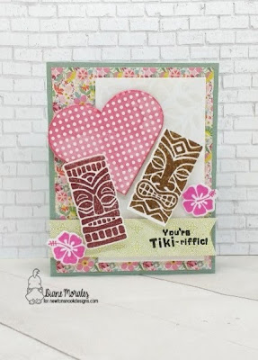 Tiki Love a card by Diane Morales - Tiki Time Stamp Set by Newton Nook Designs