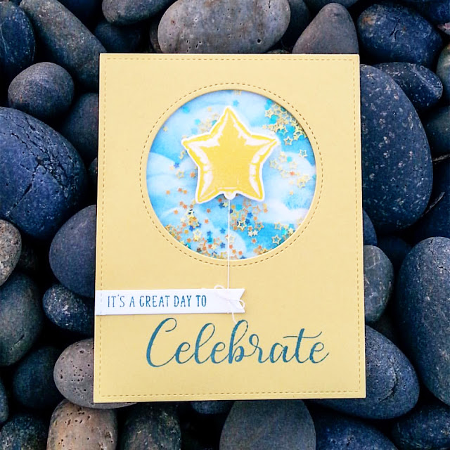 Sunny Studio Stamps: Bold Balloons Customer Card Share by Amy C