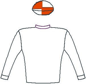 Bela-Bela - Silks - White, scarlet, and white quartered cap - Vodacom Durban July 2016
