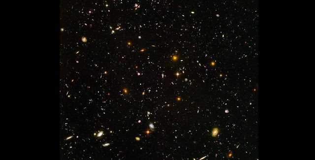 The Hubble Ultra Deep Field is a snapshot of about 10,000 galaxies in a tiny patch of sky, taken by NASA's Hubble Space Telescope. Credits: NASA, ESA, S. Beckwith (STScI), the HUDF Team