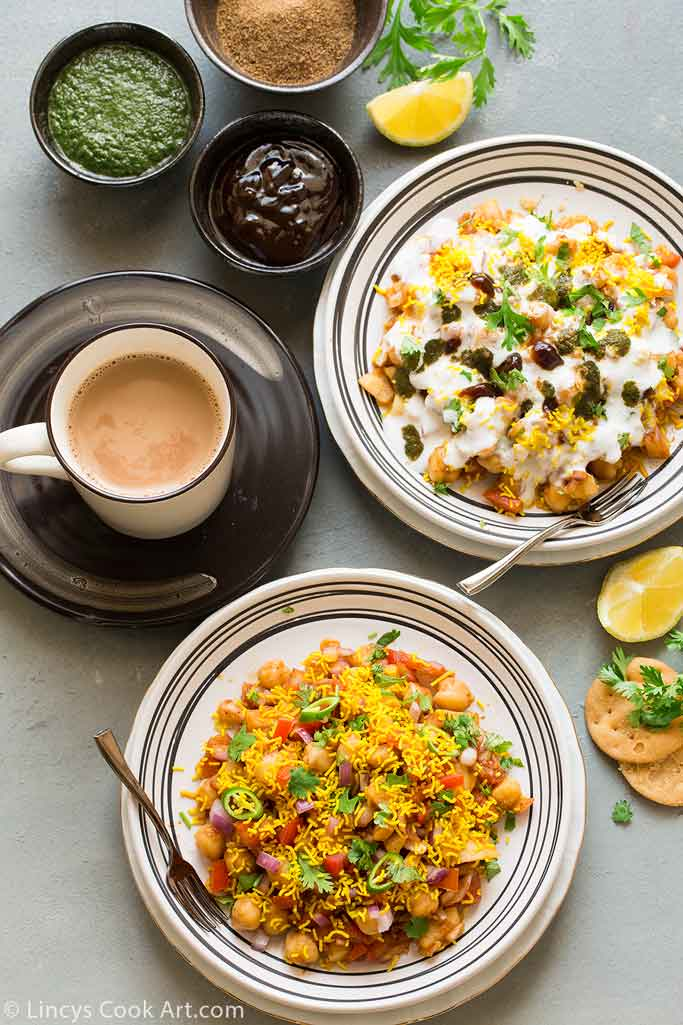 How to make aloo chana chaat recipe
