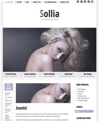 Sollia Lite 2 Joomla 3.0 Template
