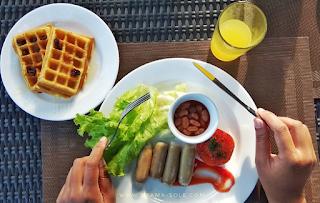 sarapan ala western puri asri magelang