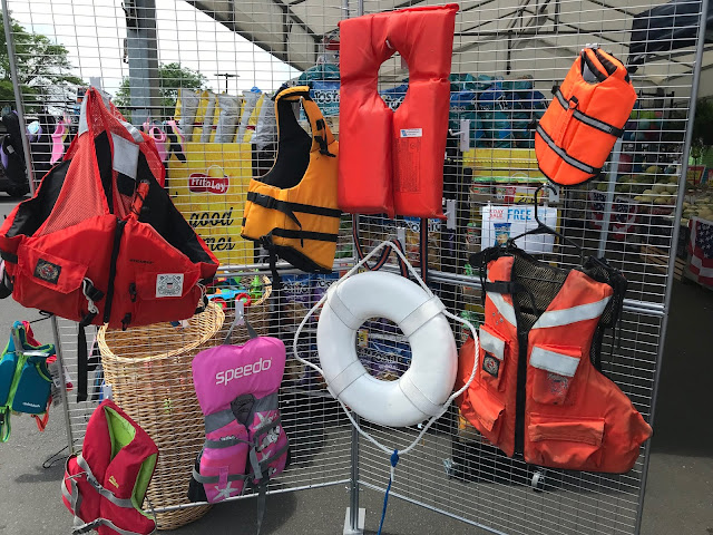 Part of National Safe Boating Week is encouraging the public to wear the correct life jacket out on the water. As you can see, the display has life jackets ranging in size to accommodate everyone on a vessel, even the family dog has a life jacket!