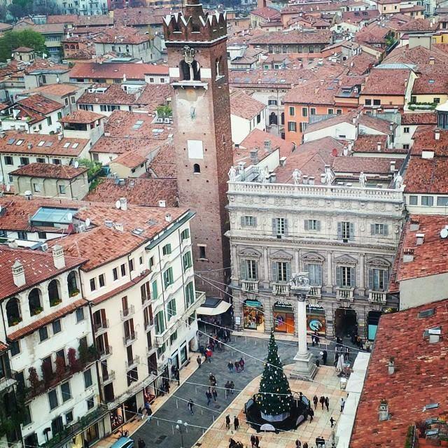 Verona seen from the 84 meters high Torre dei Lamberti