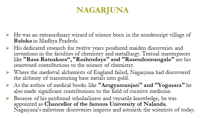 rasa ratnakara,nagarjuna,acharya kanda,surya siddhanta,bhaskaracharya,genius of algebra,Great ancient Indians,aryabatta,aryabhatiyam,astronomy,vaishehika darshana,