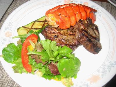 Lobster and Lamb Surf and Turf
