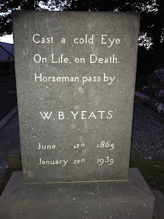 """Quote - """"Cast a cold on life, on death. Horseman pass by. W.B. Yeats June 13, 1965 - January 28, 1939"""