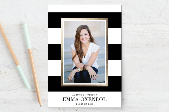 photo graduation card for minted