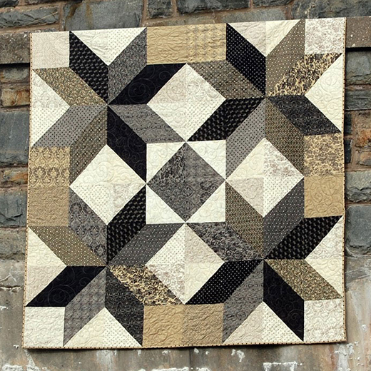 Midnight Stars Quilt Free Tutorial designed by Heather Kojan for Moda Bake Shop
