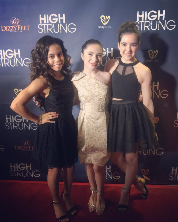 d265100ec9645 ... Aubrey Miller looking simply delightful in a Sally Miller Fash black  dress and heels attends the premiere of Paladin's 'High Strung' at TCL  Chinese ...