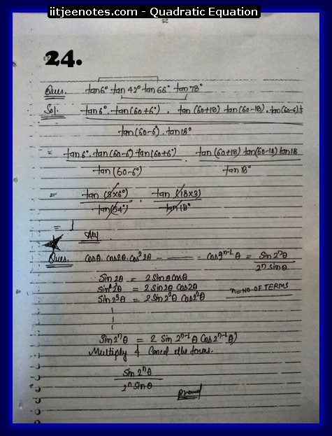 maths class 11 notes quadratic equation3