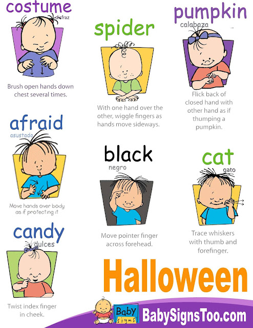 Baby Signs Halloween Poster