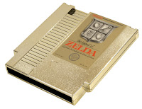 Cartucho dorado The Legend of Zelda para NES