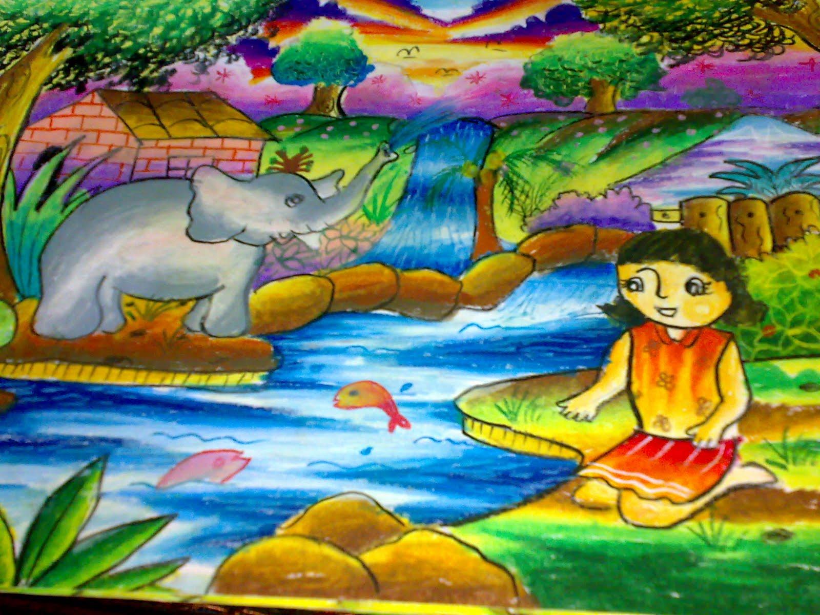 Gambar Goresan Crayon Bumi Detha Arya Tifada ficial Site