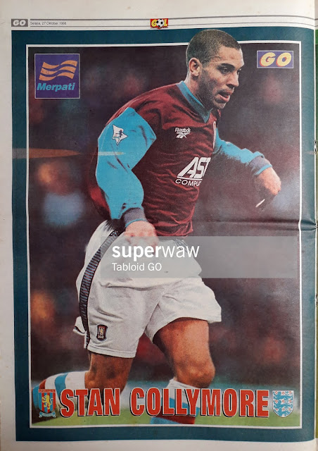 STAN COLLYMORE ASTON VILLA 1998