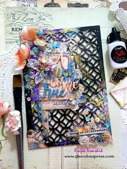 VIDEO Hop & Giveaway : 'Mini Album' Cover using 2crafty chipboard and Colourarte