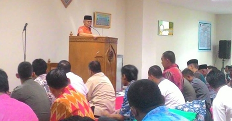 ASN Balaikota Mendapat Siraman Rohani dari Wawako Emzalmi