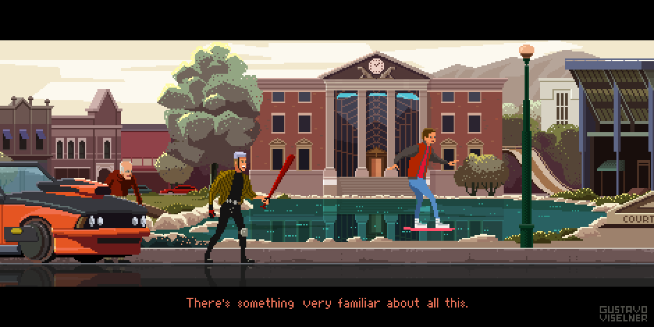 Regreso al Futuro 2 - Pixel Art