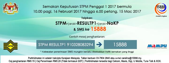 Keputusan Penggal 1 STPM 2017