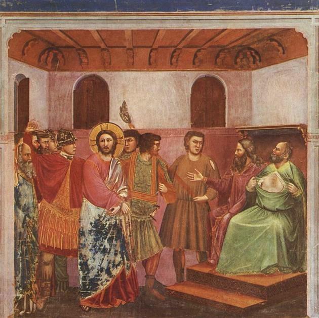 Cristo Ante Caifás - Giotto di Bondone e suas pinturas ~ Primeiro a introduzi a perspectiva na pintura