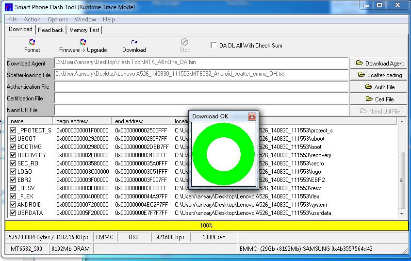 Mtk6582 Sp flash tool