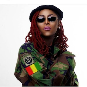 Popular Nigerian Musician Cynthia Morgan Stuns In Army Camouflage (Photo)