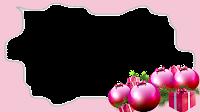 16x9 irregular-frame-rosa B + bolinhas 3 xmas png