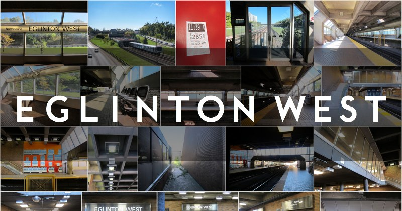 Photo gallery of Eglinton West subway station