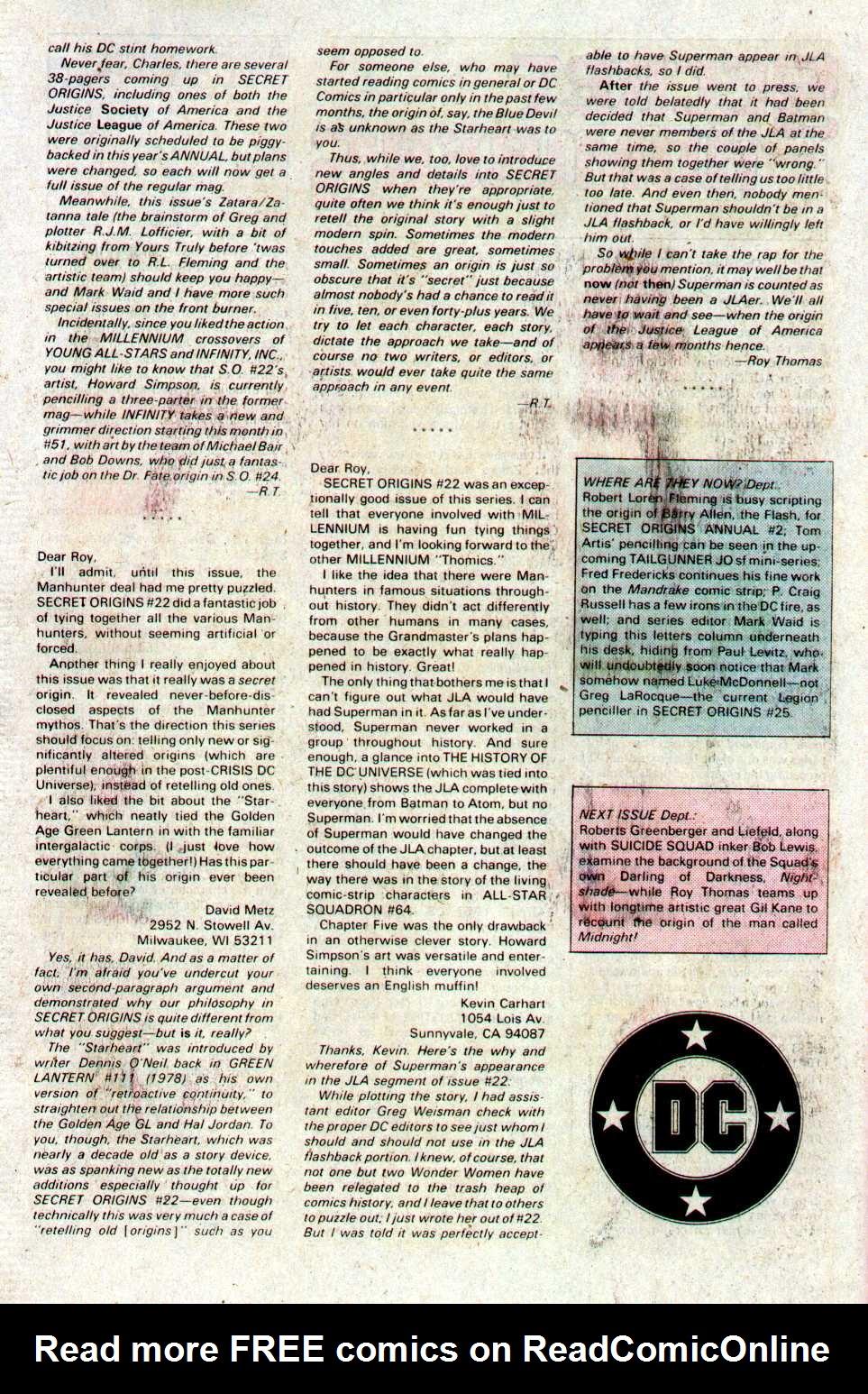 Read online Secret Origins (1986) comic -  Issue #27 - 42