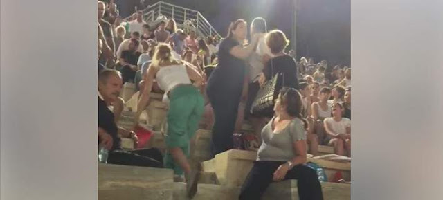 Ανδρας χαστουκίζει τη γυναίκα του στη συναυλία στο Παναθηναϊκό Στάδιο -και εγινε το ελα να δεις απο τους άλλους θεατές (βίντεο)