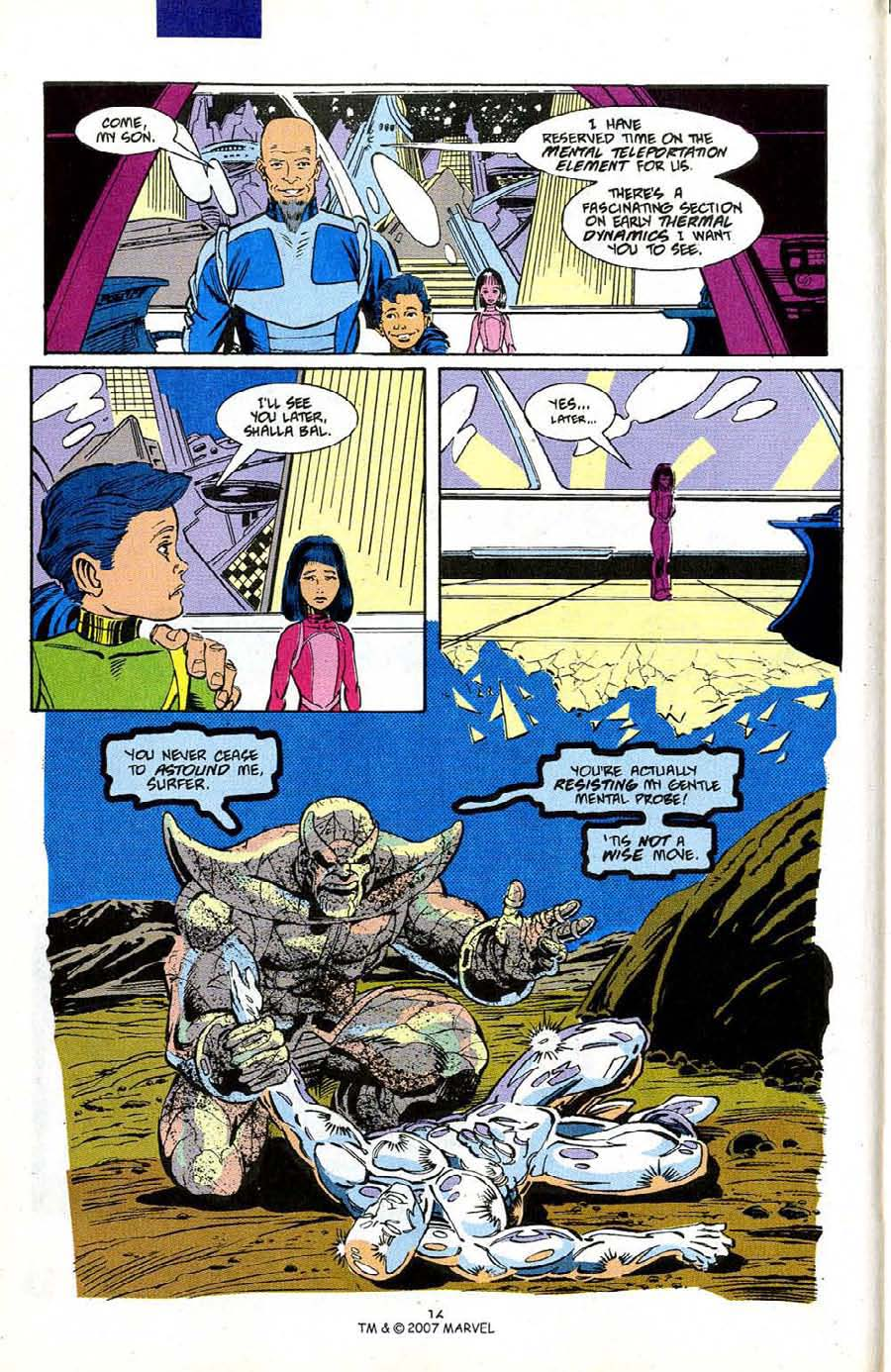 Read online Silver Surfer (1987) comic -  Issue #50 - 18