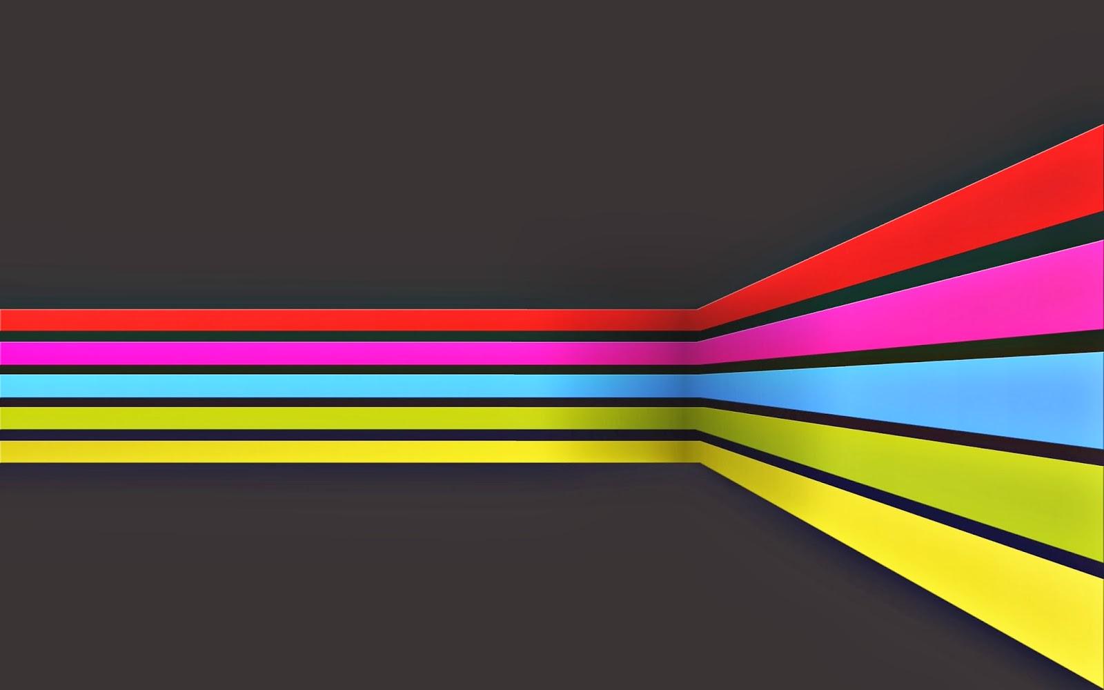 Fondo De Pantalla Abstracto Lineas De Colores Haciendo Esquina