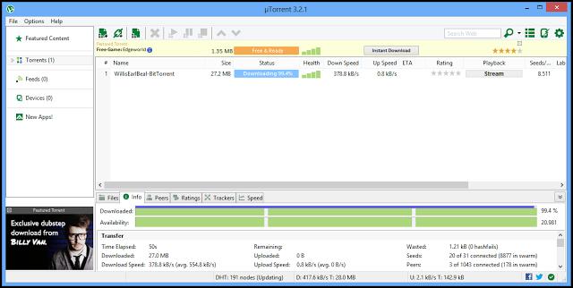 تنزيل برنامج u torrent مجاناً