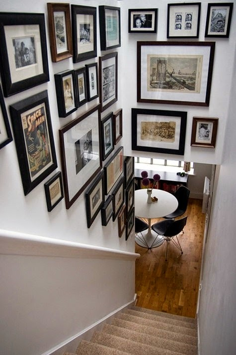 50 Creative Staircase Wall decorating ideas, art frames ... on Picture Hanging Idea  id=98238