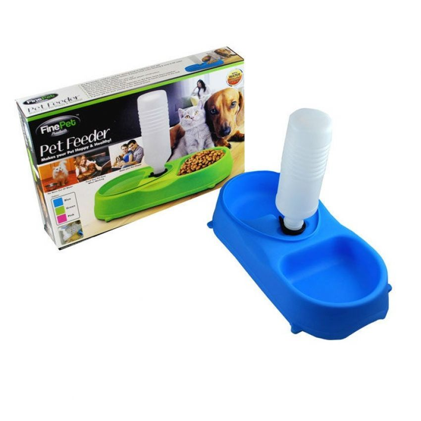 Tempat Makan Minum Binatang Peliharaan Finepet Dog & Cat Pet Feeder