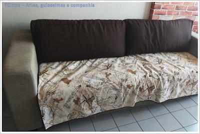 manta para sofá; faça você mesmo; costura; protetor de sofá passo-a-passo; decoração do lar