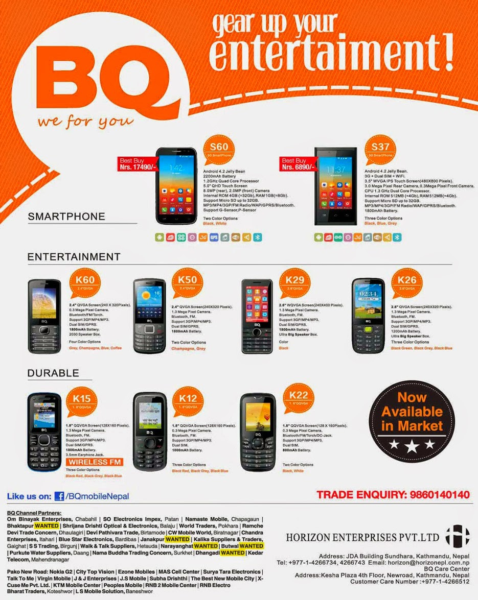 BQ mobile price in nepal