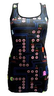 Chery Skulls Pac-Man Vest Top