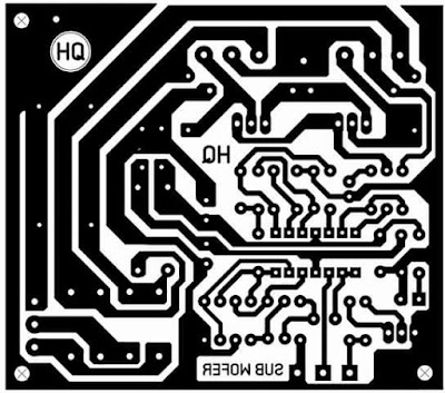 Subwoofer Power Amplifier PCB Layout