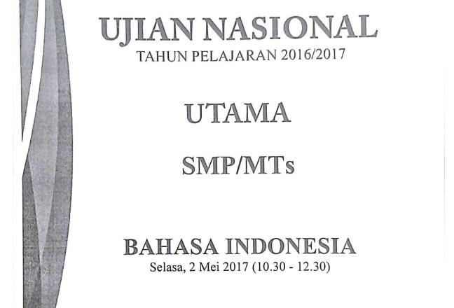 Prediksi Soal Un 2017 2018 Bahasa Indonesia Smp Mts Zuhri Indonesia