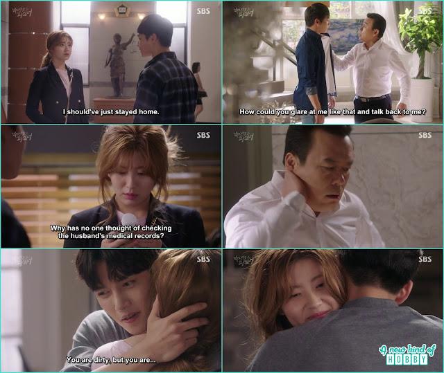 ji wook give hug to bong hee for th ehard work - Suspicious Partner: Episode 19 & 20 korean Drama