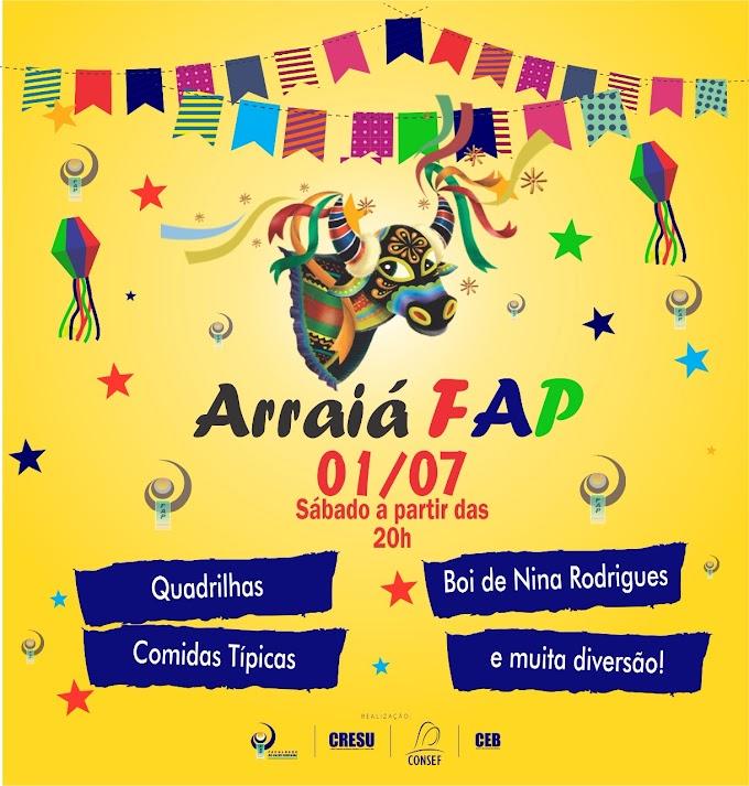 Neste sábado (01-06), FAP realiza o tradicional Arraiá, com danças e apresentação de Bumba-boi.