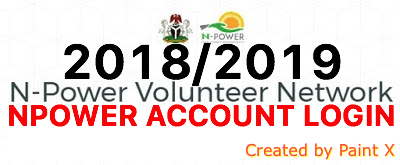 N-power Account Login 2018/2019 - Sign In Npower