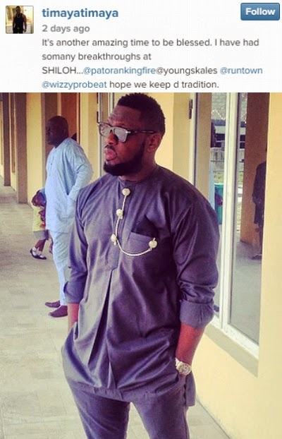 timaya attend winners chapel