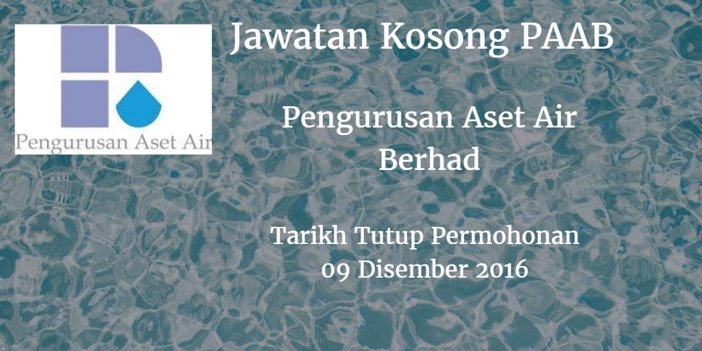 Jawatan Kosong PAAB 09 Disember 2016